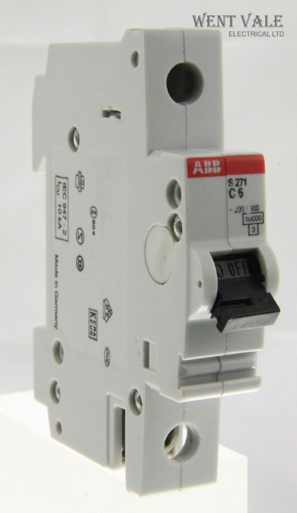 ABB - S271 - 6a Type C Single Pole MCB Used